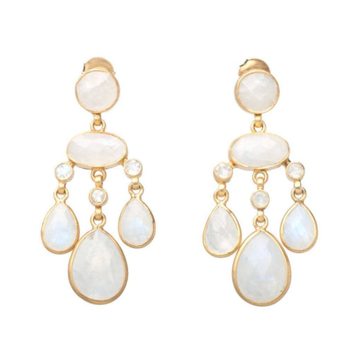 Moonstone Chandelier Earrings