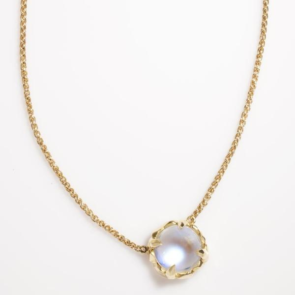 Moonstone Claw Necklace 18k Gold - Curated Los Angeles