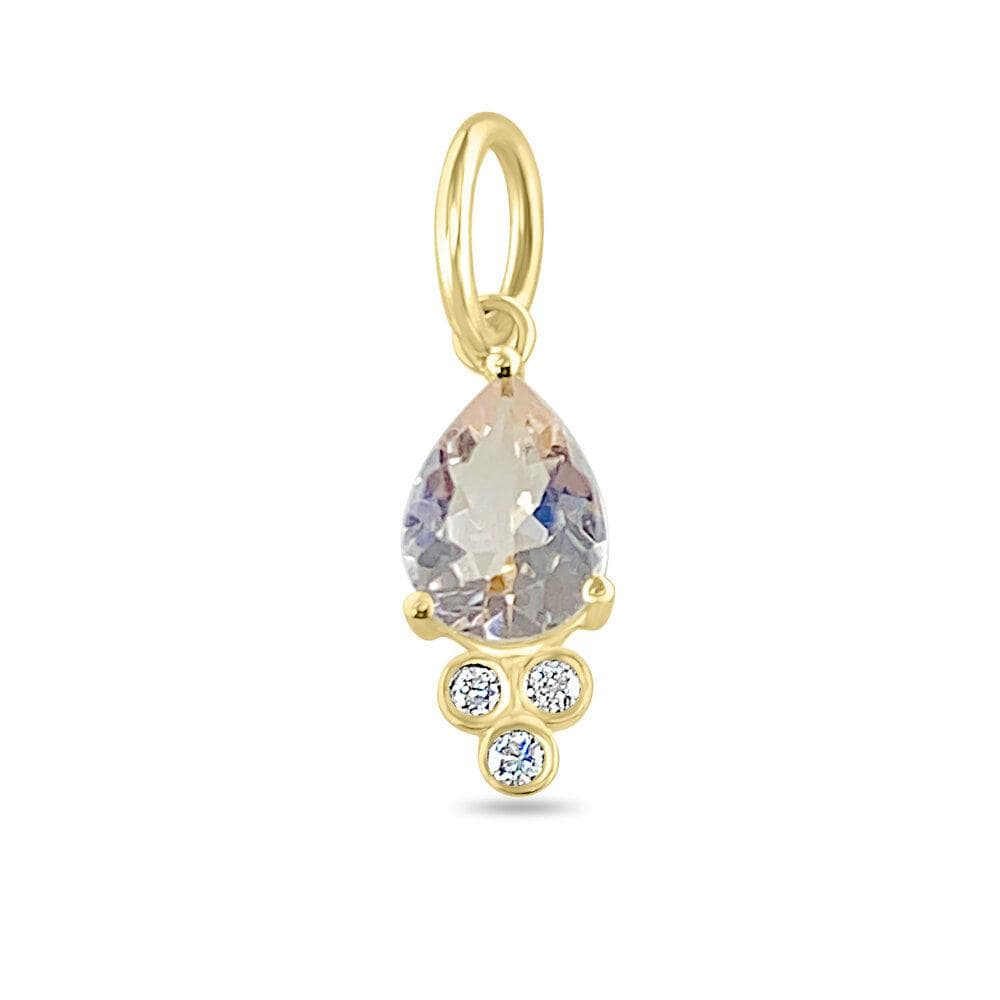 Morganite Diamond Pendant 14k