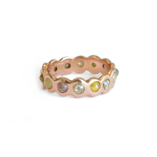 Eternity Rose Cut Brown Diamond Ring - Curated Los Angeles