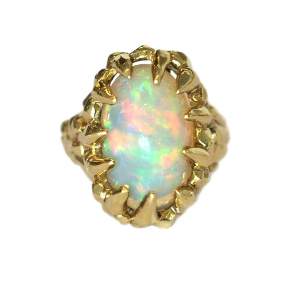 Opal & 18k Yellow Gold Ring