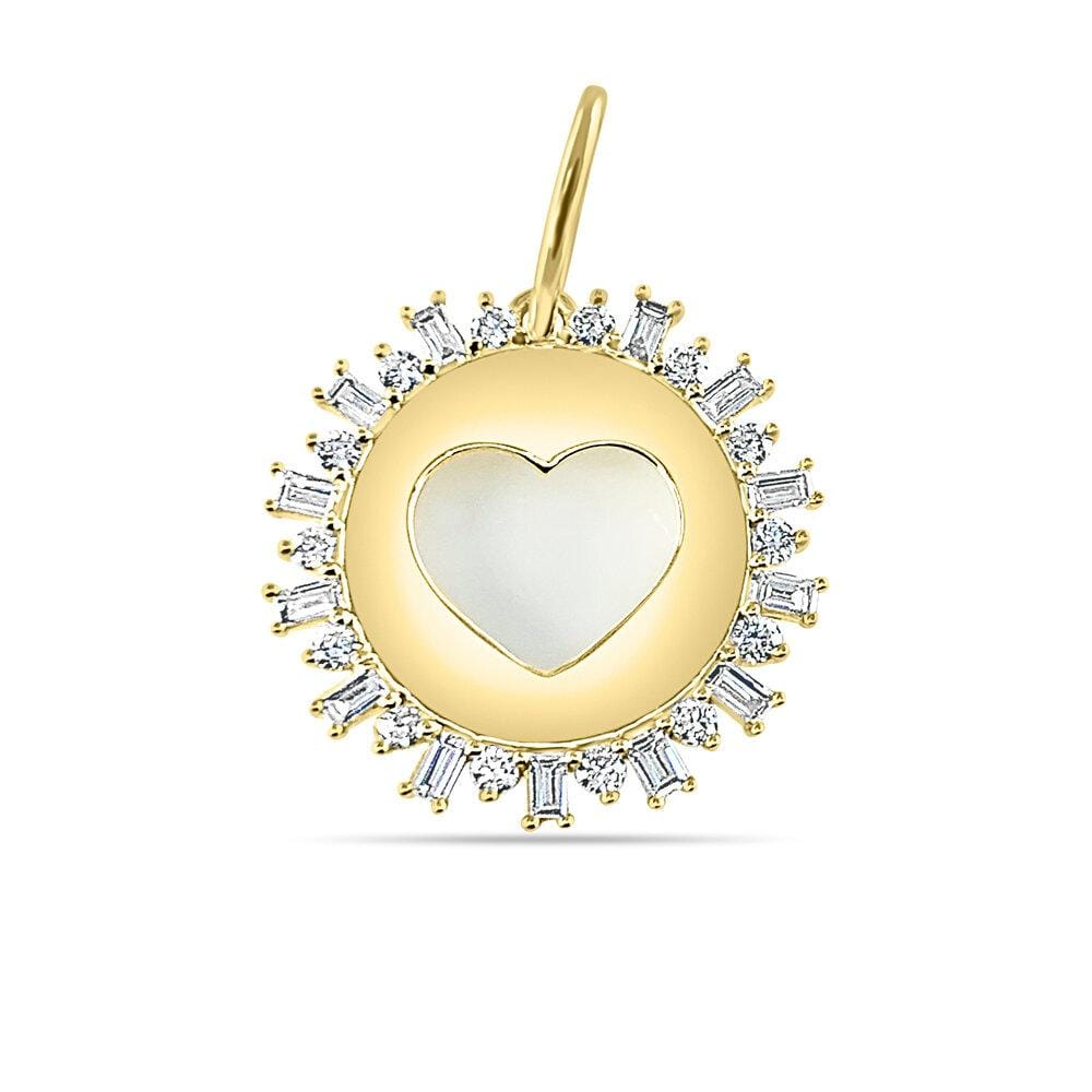 Open Heart Baguette Diamond Charm