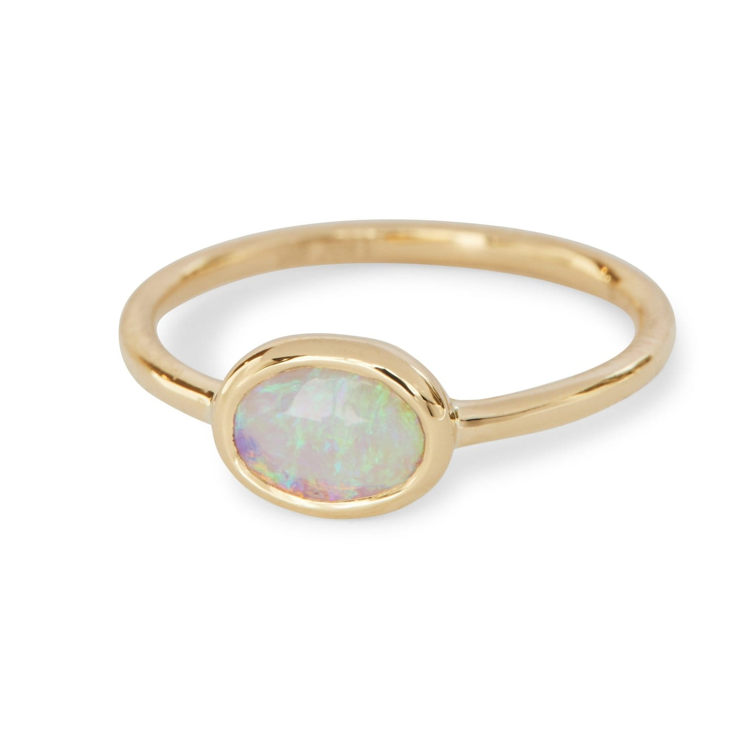 Oval Bezel Opal Ring