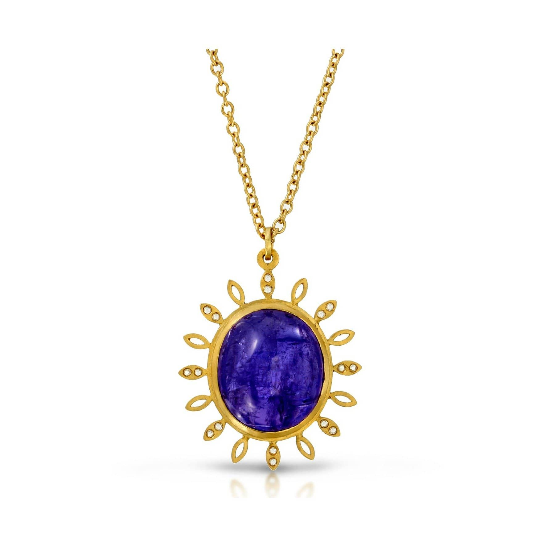 Tanzanite and Diamond Pendant Necklace