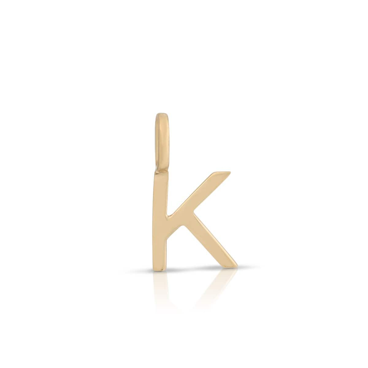 K - Initial Gold Charm
