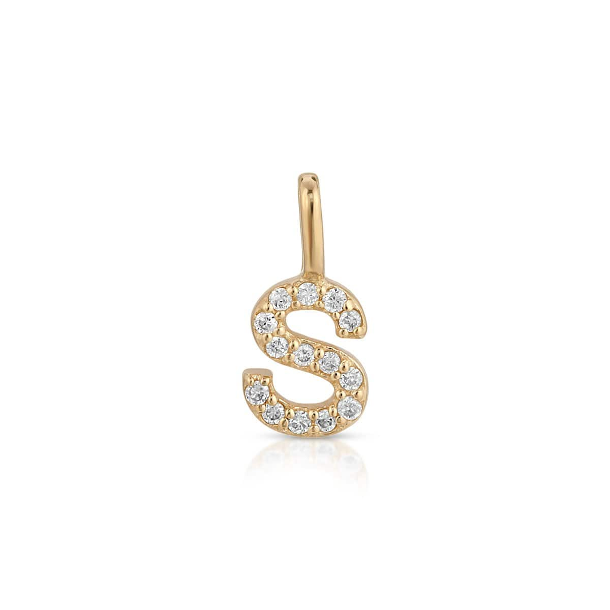 Diamond Gold Letter S Pendant