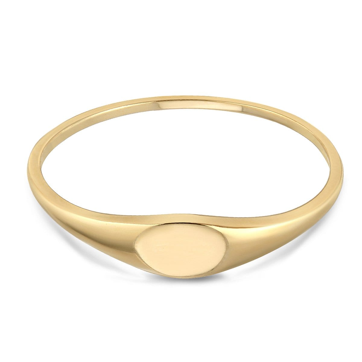 14k Narrow Signet Ring Letreaime