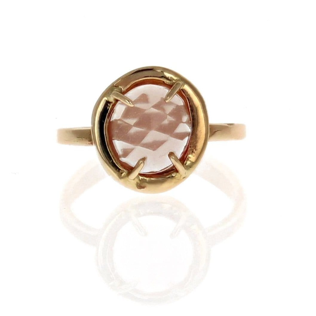 Andasine Labradorite Rose Cut Gold Ring IO Collective