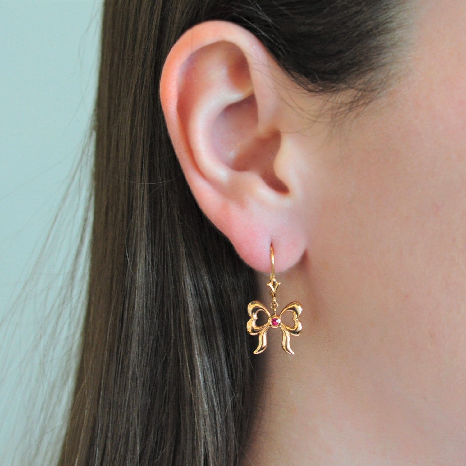 Pink Sapphire Rose Gold Bow Earrings Elizabeth Jane Atelier Fine Jewelry