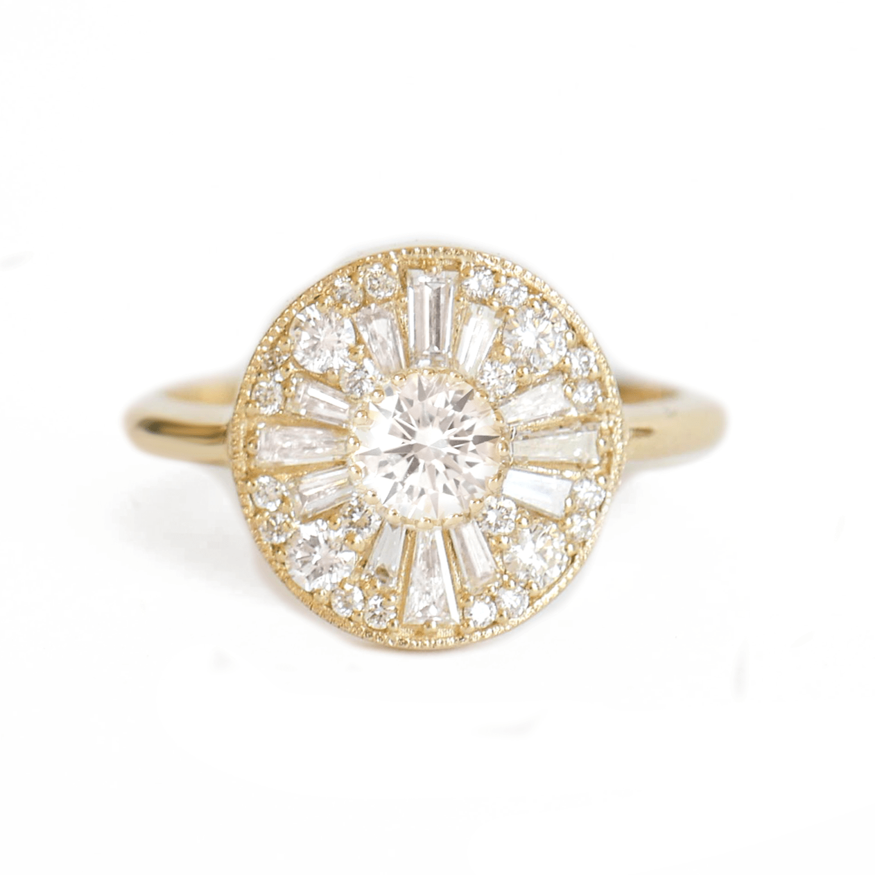 Brilliant Diamond Round Mosaic Ring