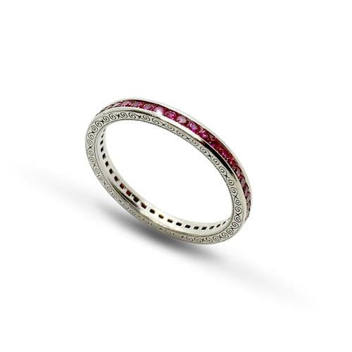 Ruby White Gold Eternity Ring - Curated Los Angeles