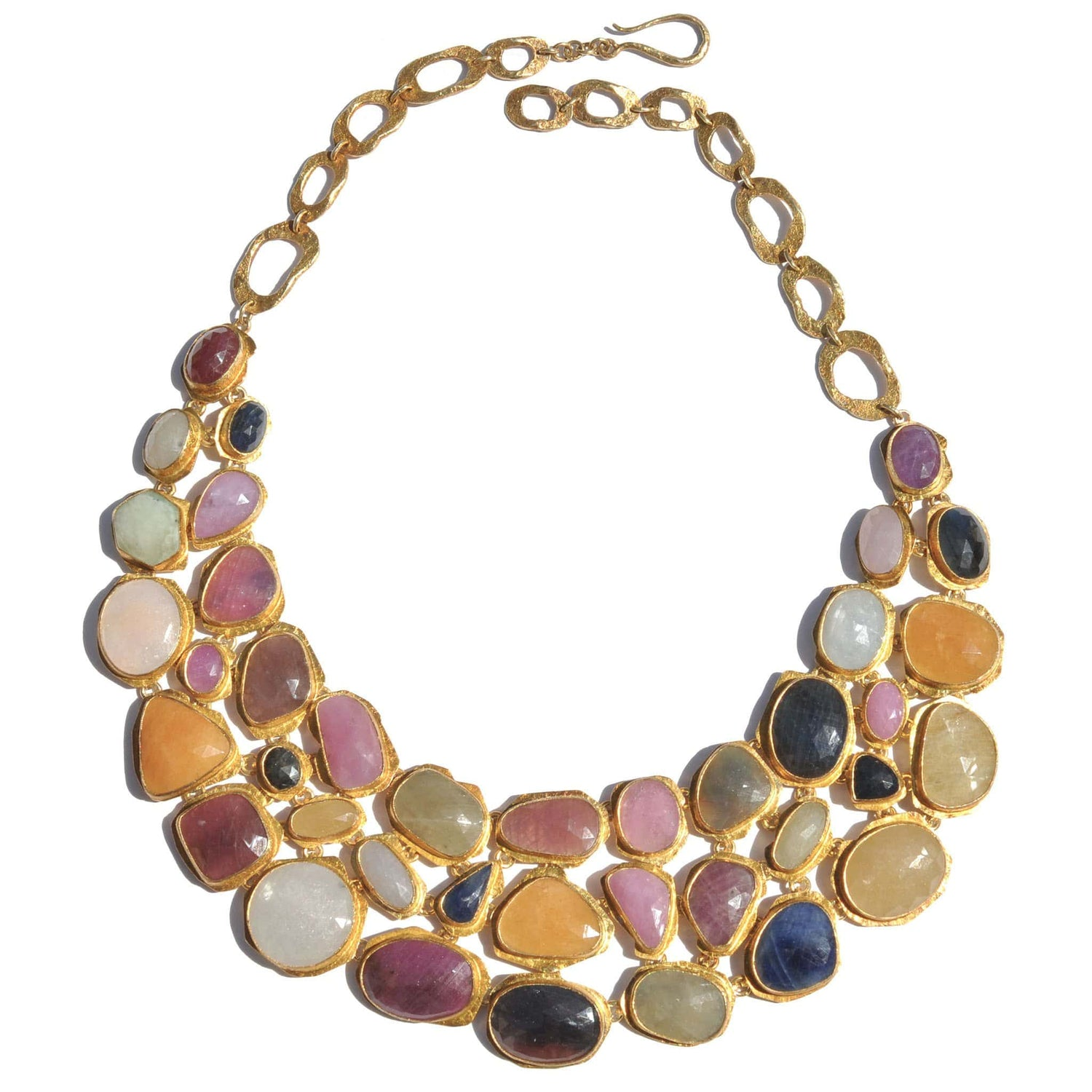 Sapphire Multi-Color Bib Necklace - Curated Los Angeles