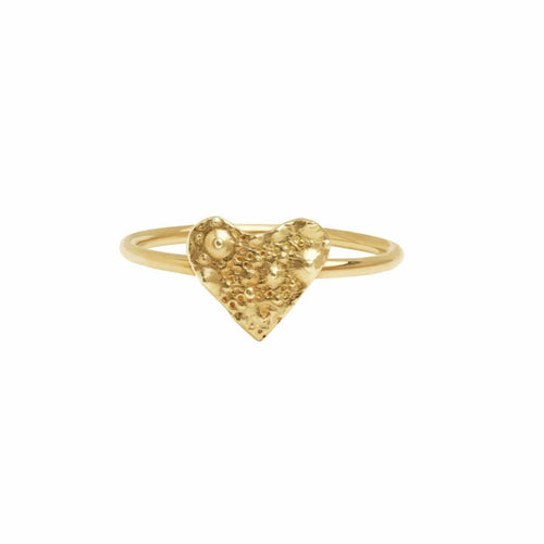 Sea urchin gold texture ring
