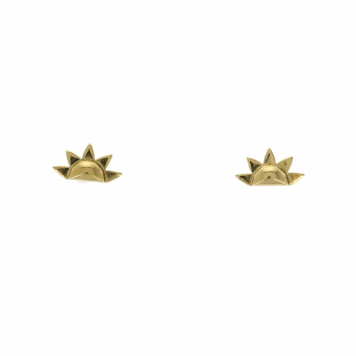 Sunrise Yellow Gold Stud Earrings - Curated Los Angeles