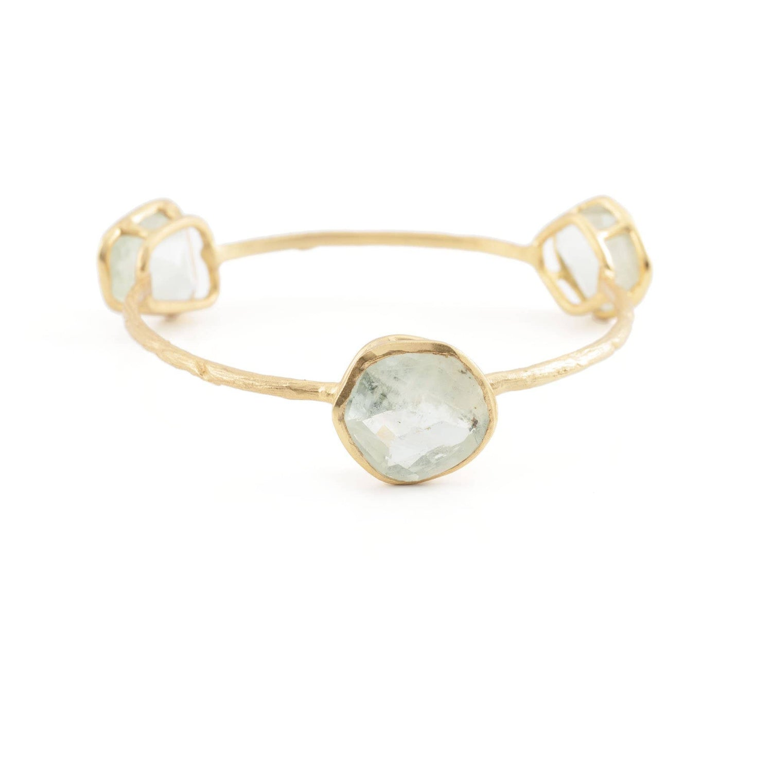 Aquamarine Chunky Bangle - Curated Los Angeles