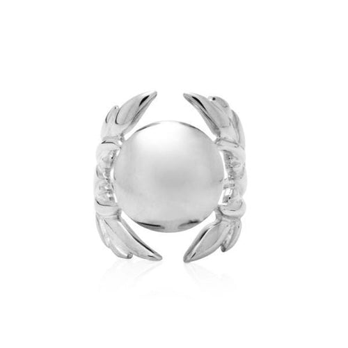 Silver Dome Wing Ring