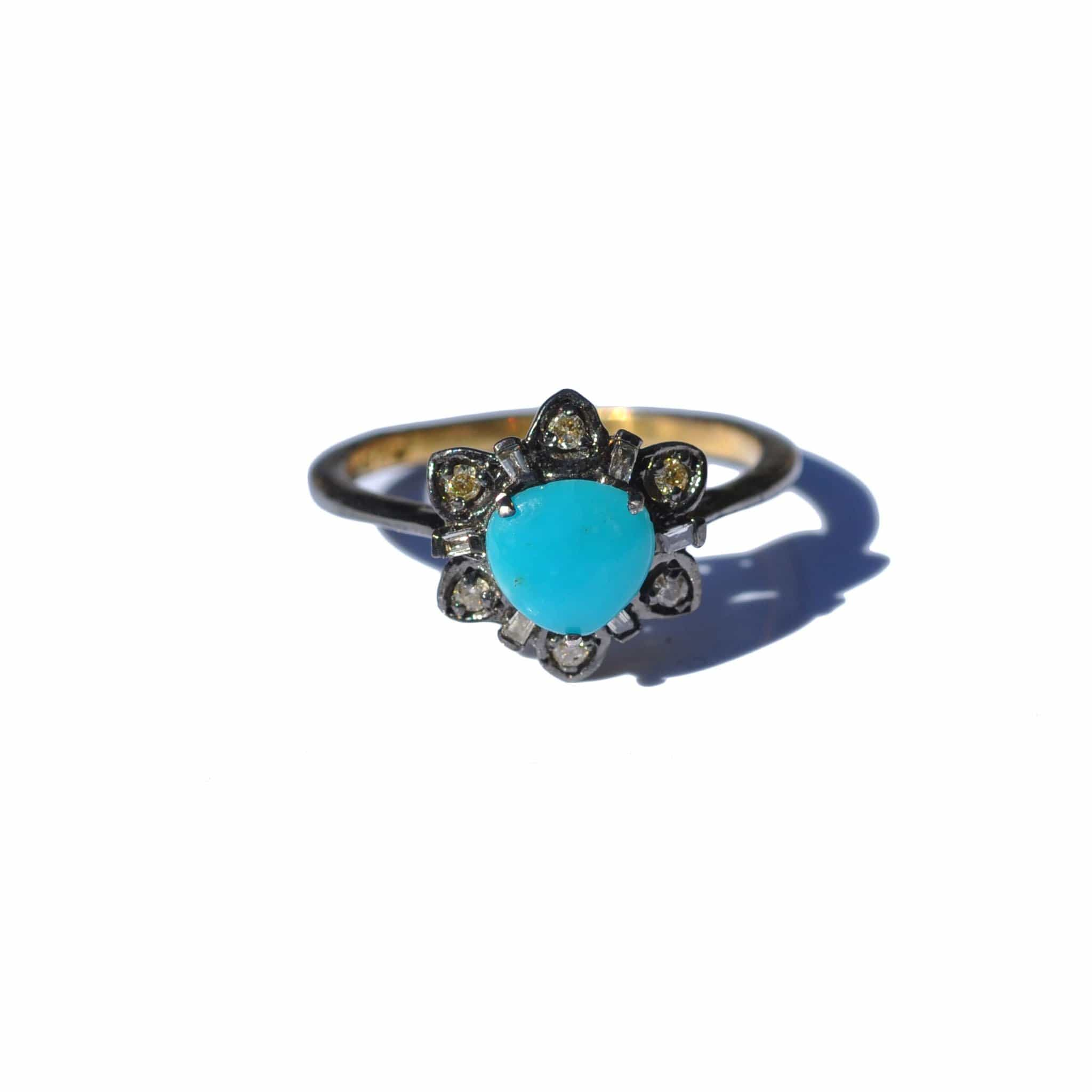 flower white ring jewelry turquoise gold diamond oro trend
