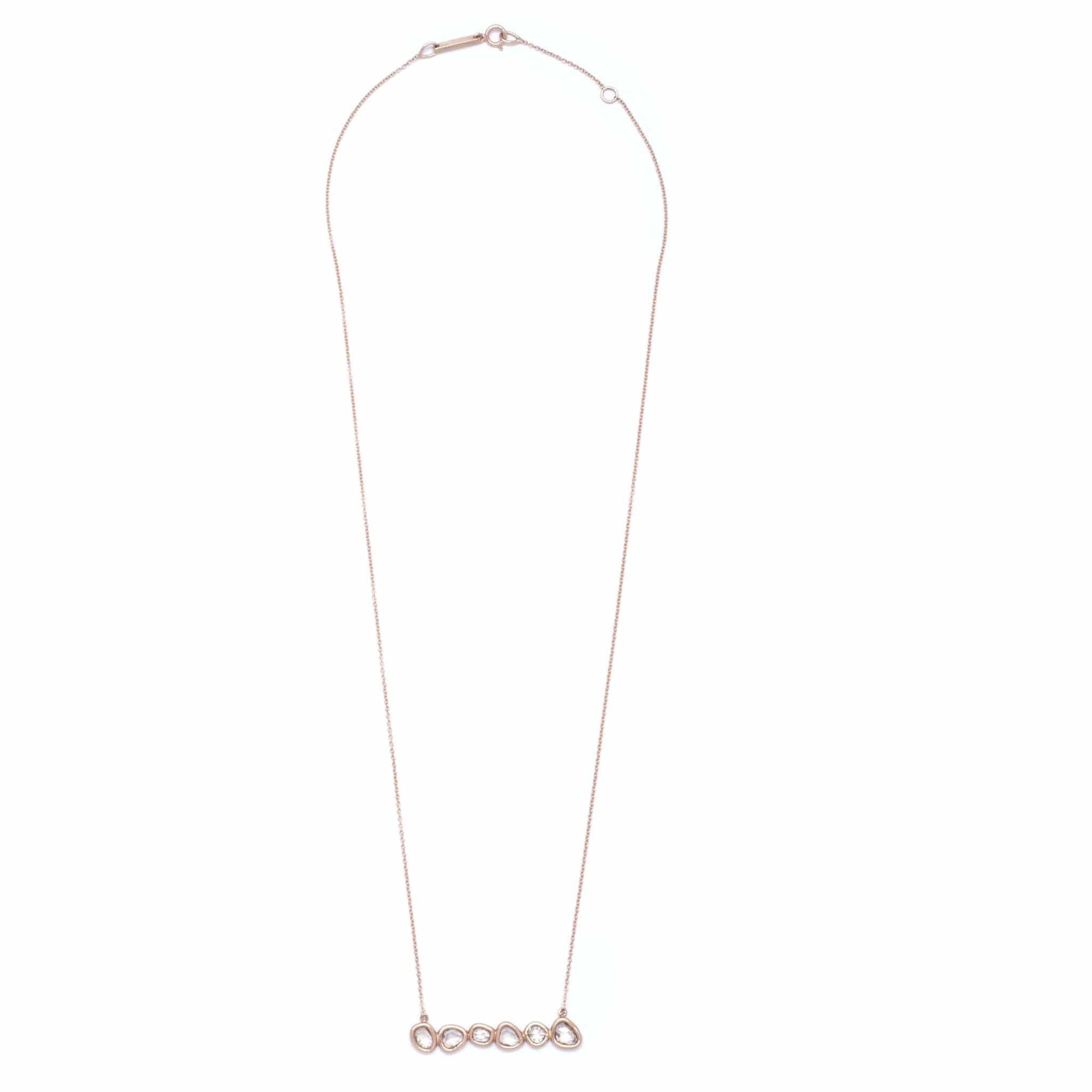 Rose Cut Diamond Bar Necklace - Curated Los Angeles