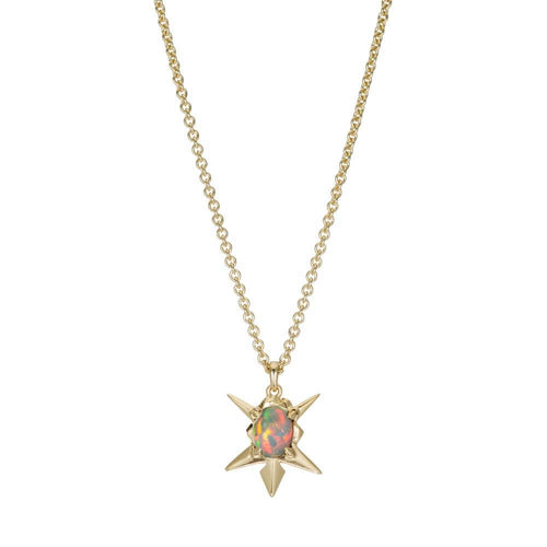 Starburst Opal Pendant Necklace - Curated Los Angeles