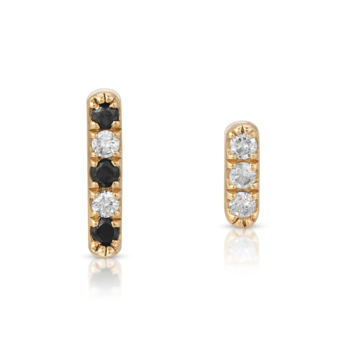 Mismatch Diamond Bar Studs