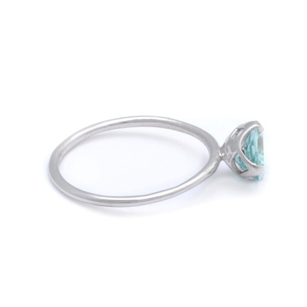Sky Blue Tourmaline Solitaire Ring