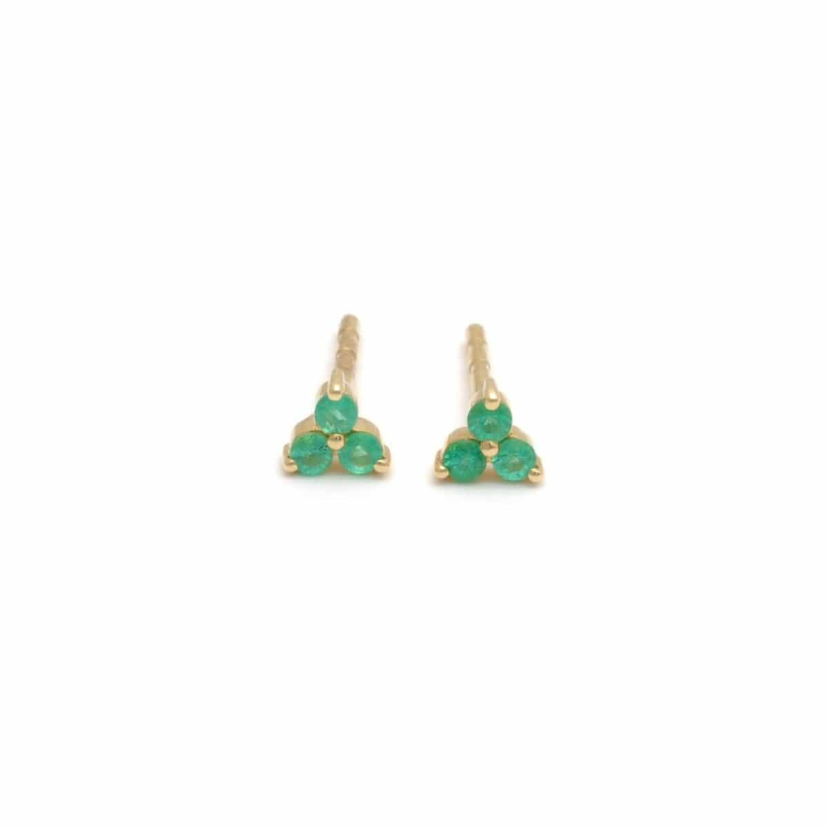 Three Emerald cluster earrings