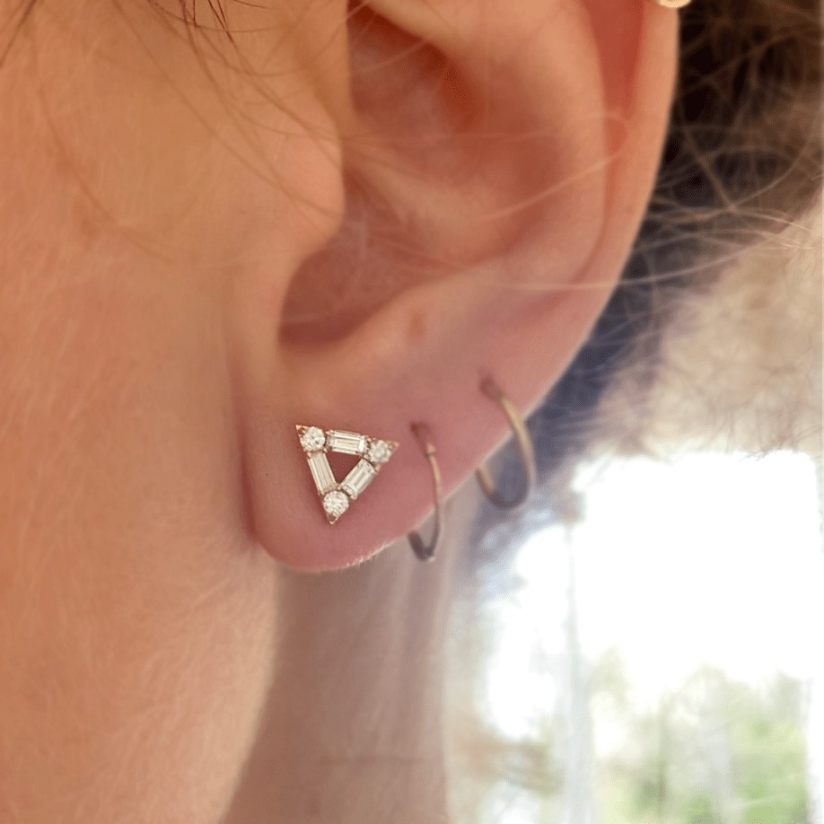 Triangle Diamond Mosaic Studs