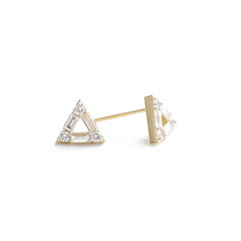 Mini Bow Diamond Studs