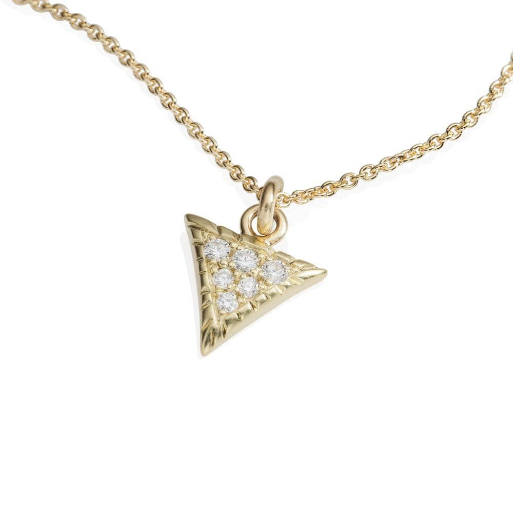 Triangle Diamond Pendant Scale Necklace - Curated Los Angeles