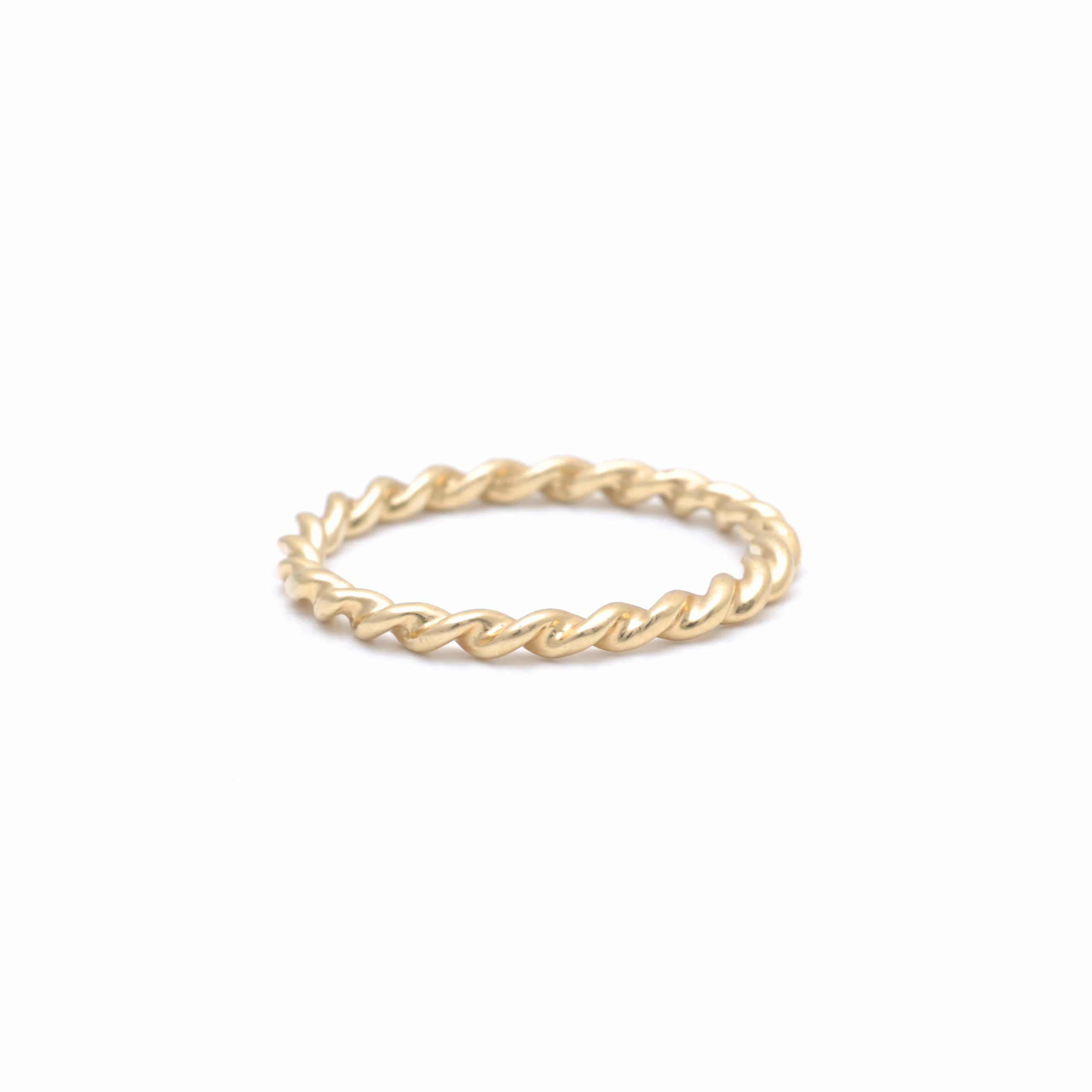 Twisted Rope Yellow Gold Ring