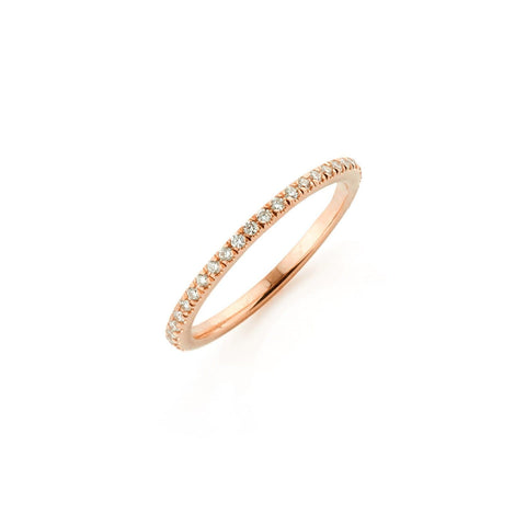 Double Half Circle Diamond Ring