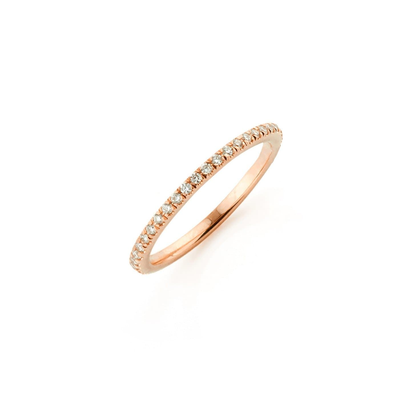 rose gold 18k diamond ring