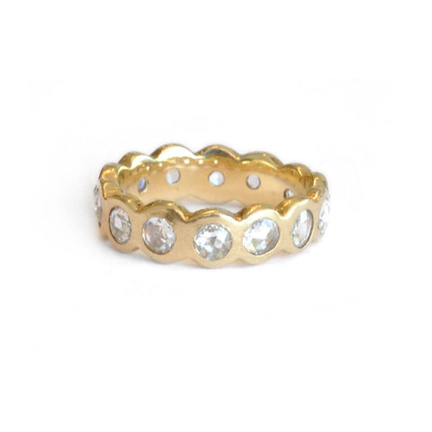 Eternity Diamond 14K Yellow Gold Ring
