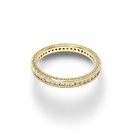 Diamond Yellow Gold Eternity Ring - Curated Los Angeles