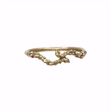 Yellow Gold Sea Creature Stacking Ring