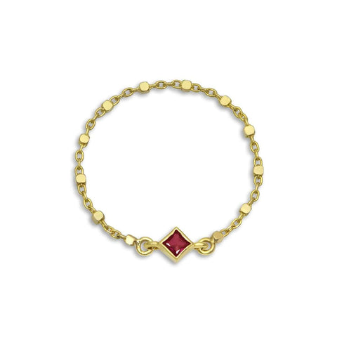 Diamond Heart Oxidized Gold Bead Bracelet