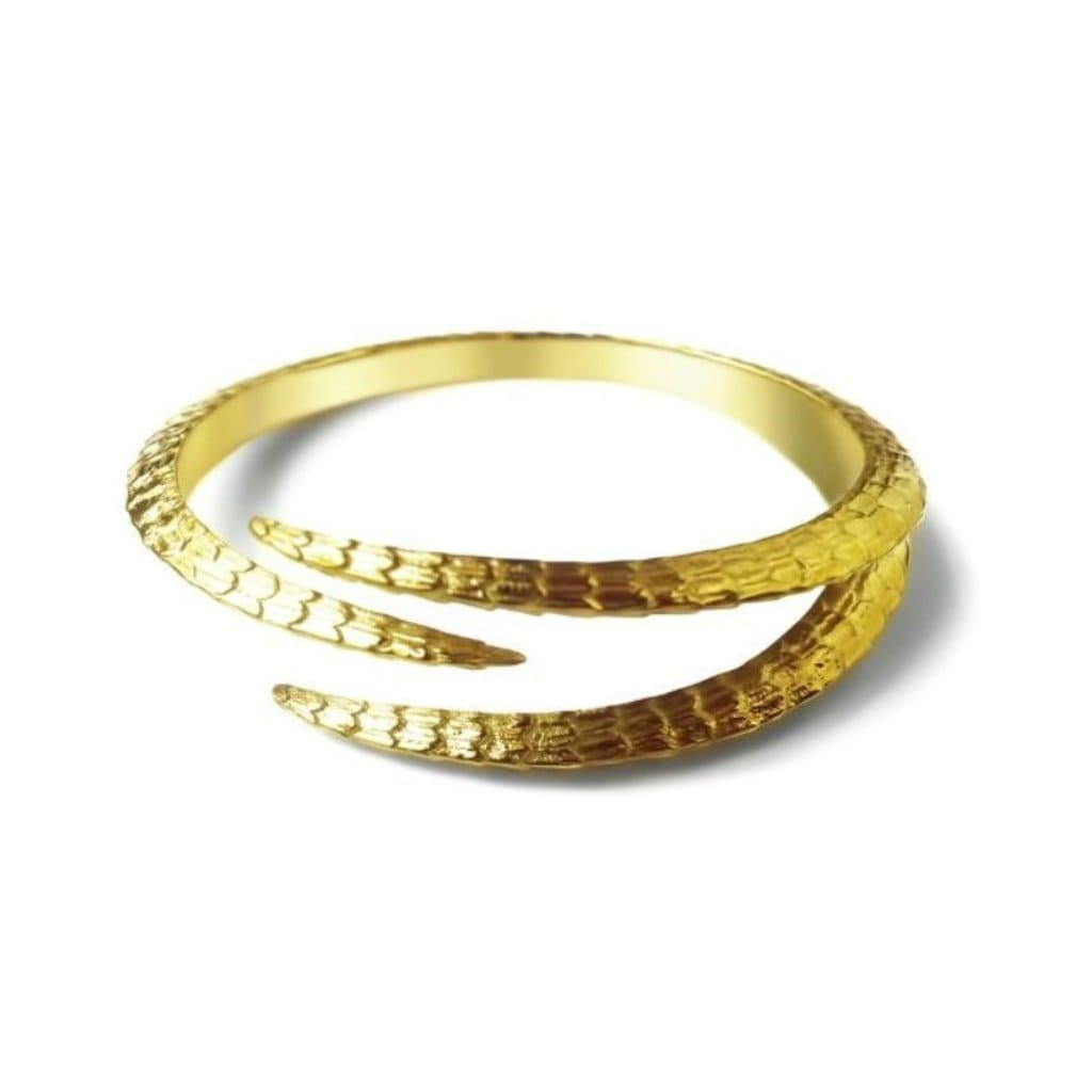 Triple Claw Gold Plated Bangle - Curated Los Angeles