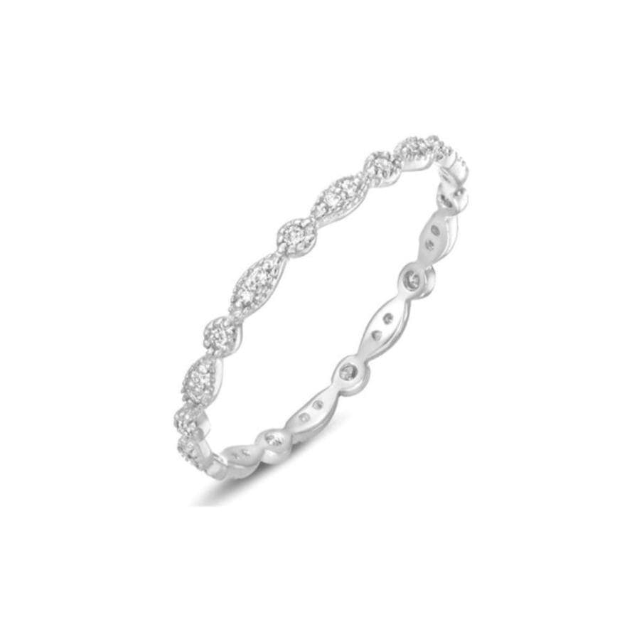 Deco White Gold Diamond Eternity Ring letreaime