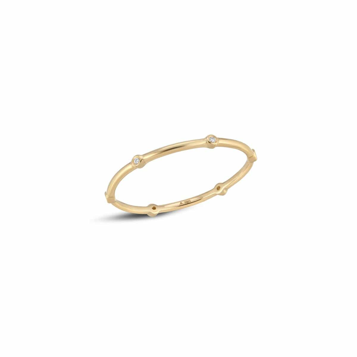 Diamond Bezel Station Stacking Ring