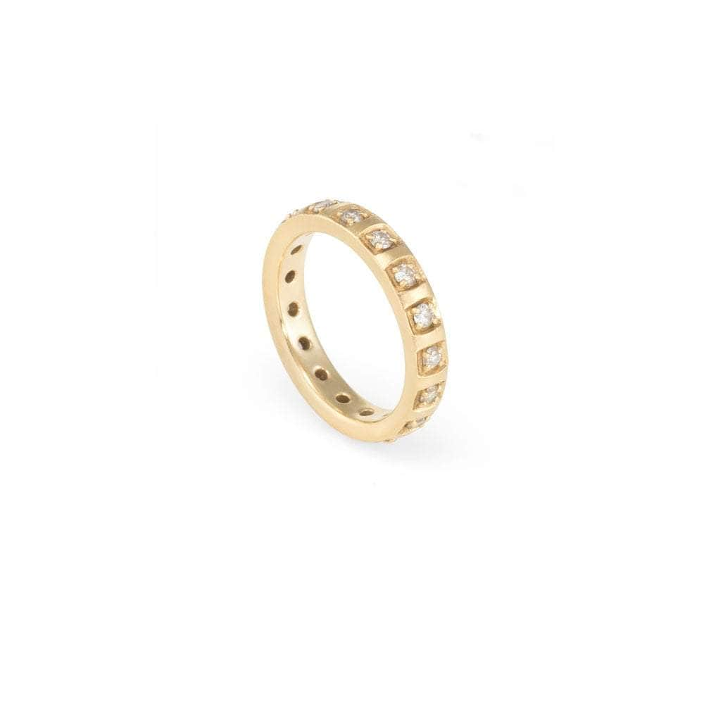 Diamond Inset Gold Eternity Band