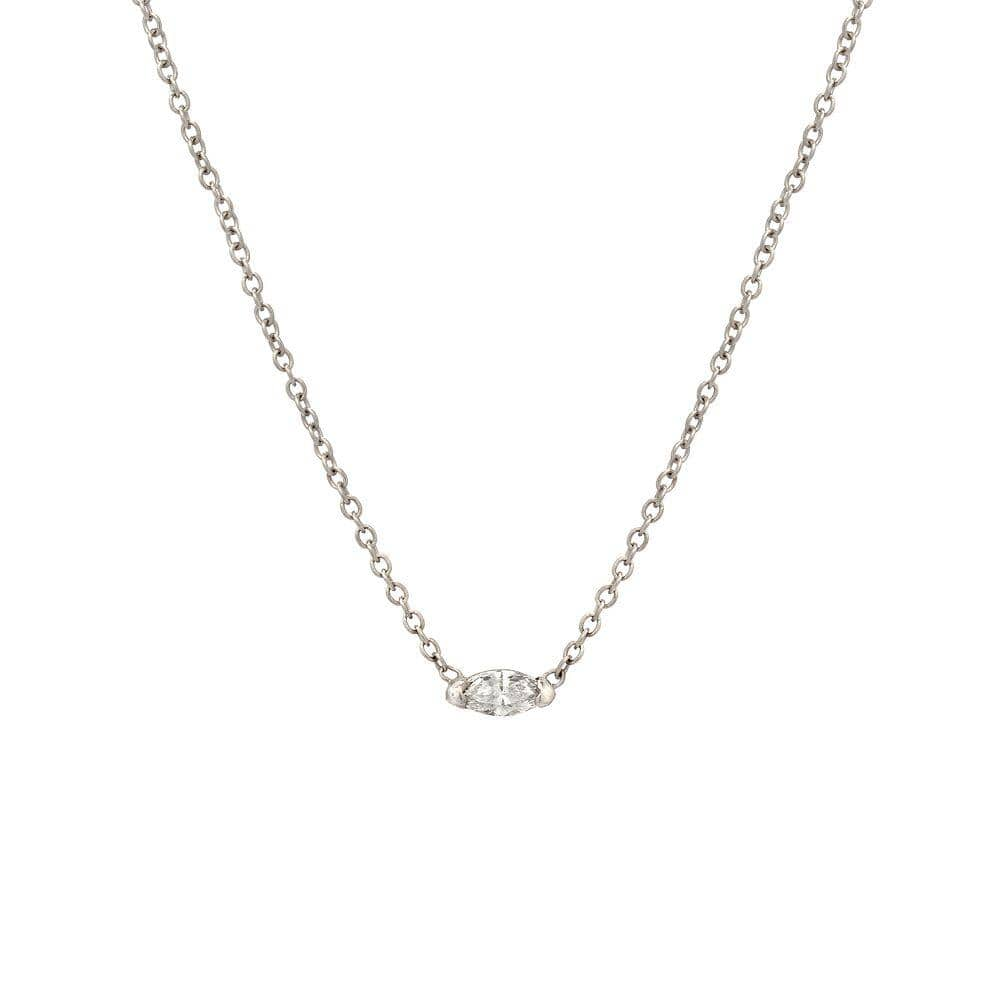 Marquise Diamond White Gold Necklace - Curated Los Angeles