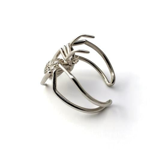 Medium Diamond Spider White Gold Ring - Curated Los Angeles