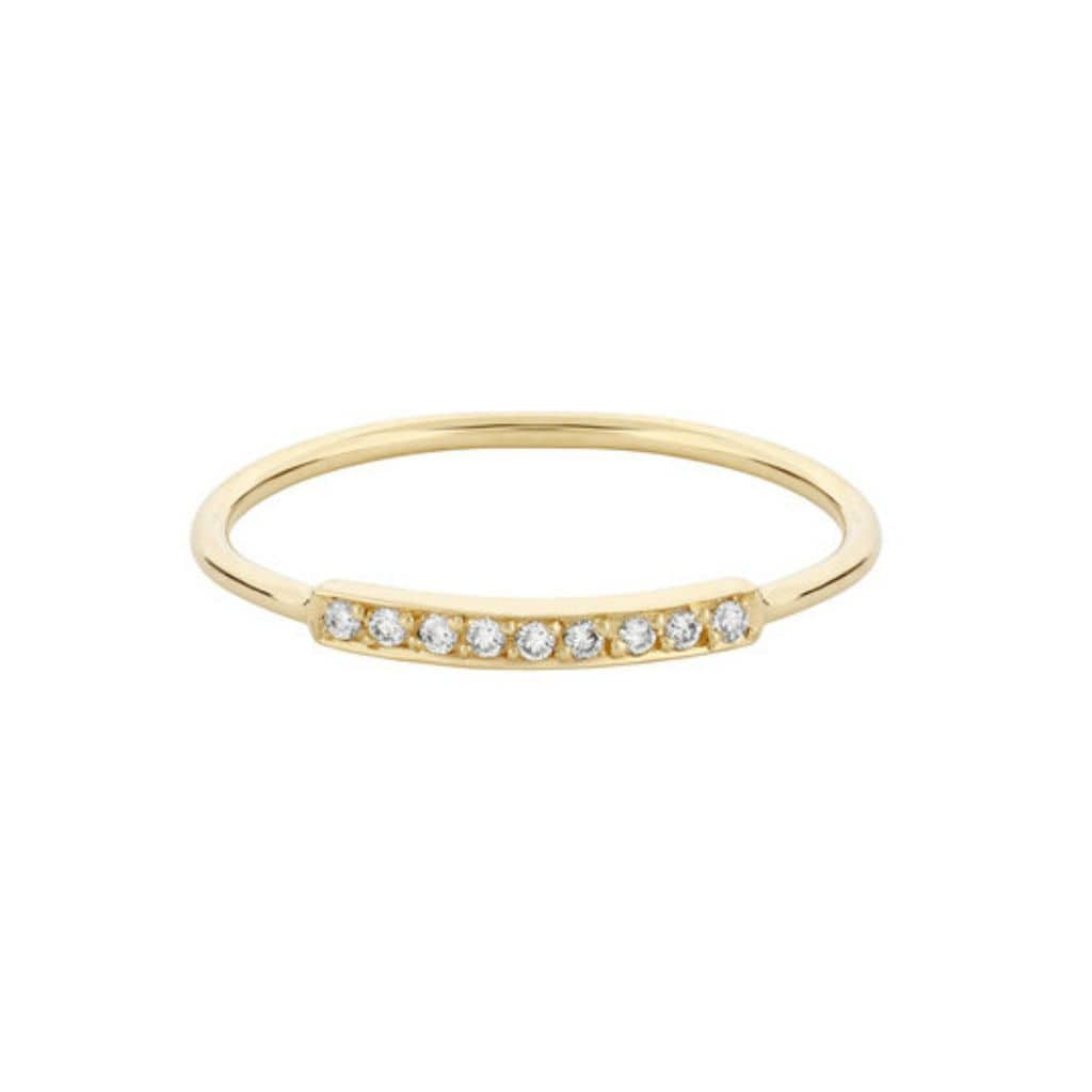 Diamond Stacking Band Yellow Gold Ring - Curated Los Angeles