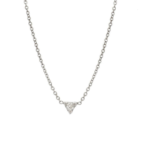 Triple Bow Diamond Necklace in 18k Tri-color Gold