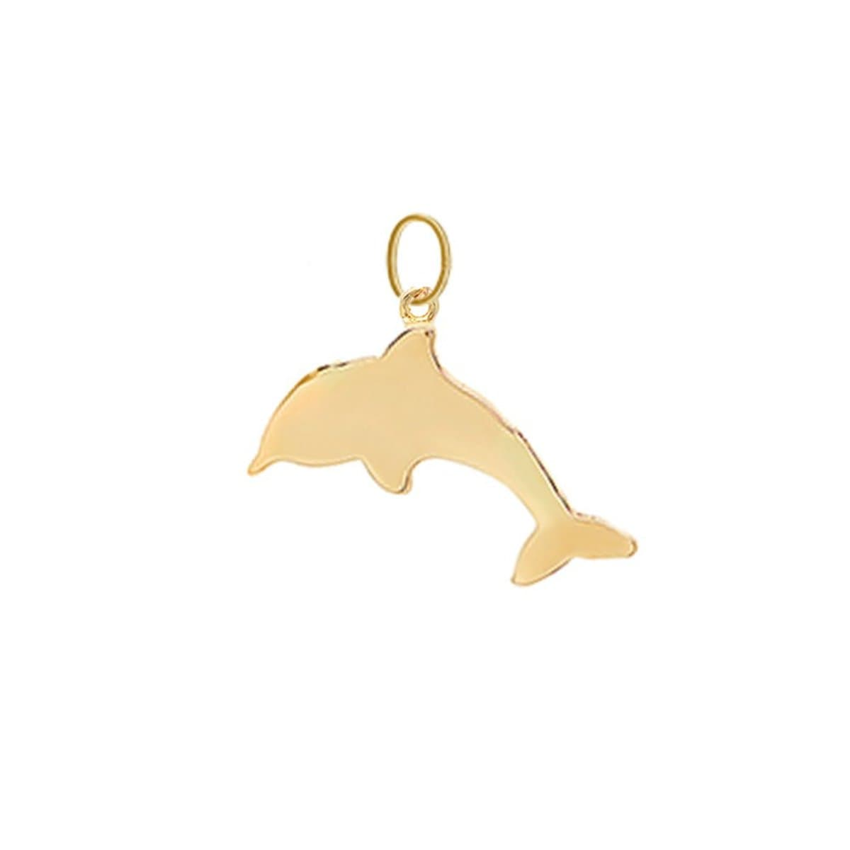 Dolphin Charm Yellow Gold Caitlin Nicole Curated Los Angeles