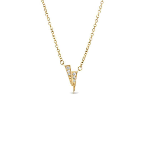 Diamond Gold Double Spike Necklace