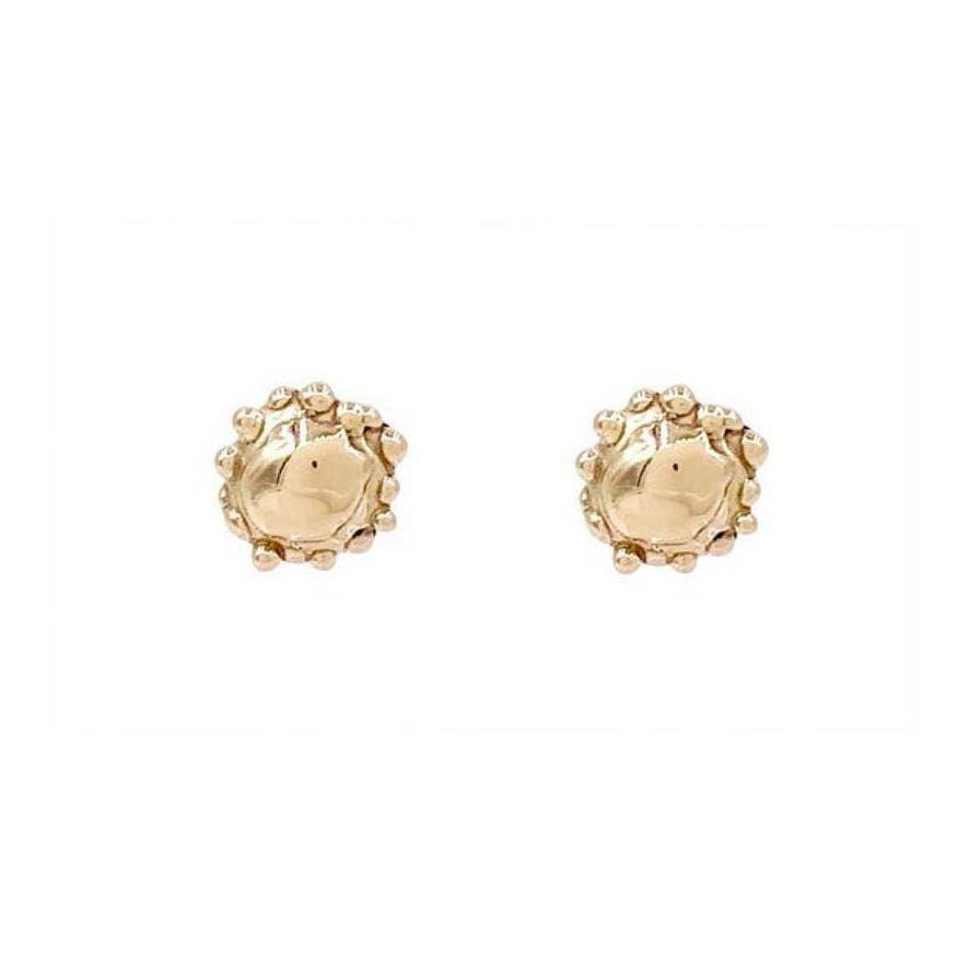 Mini Sea Creature Yellow Gold Studs - Curated Los Angeles