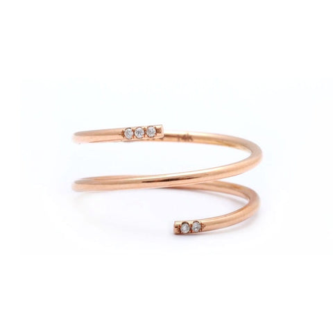 7mm Rose Gold Bead Layering Bracelet