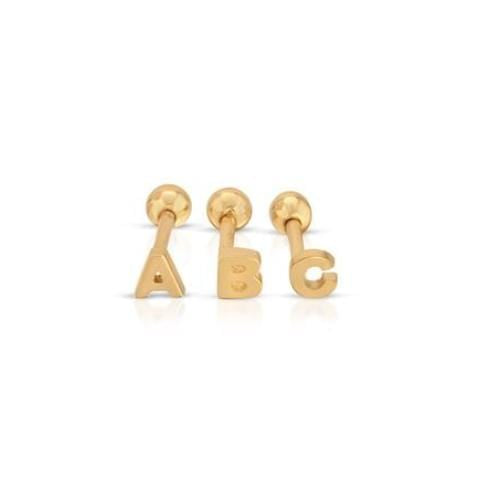 Mini Initial Stud Earring