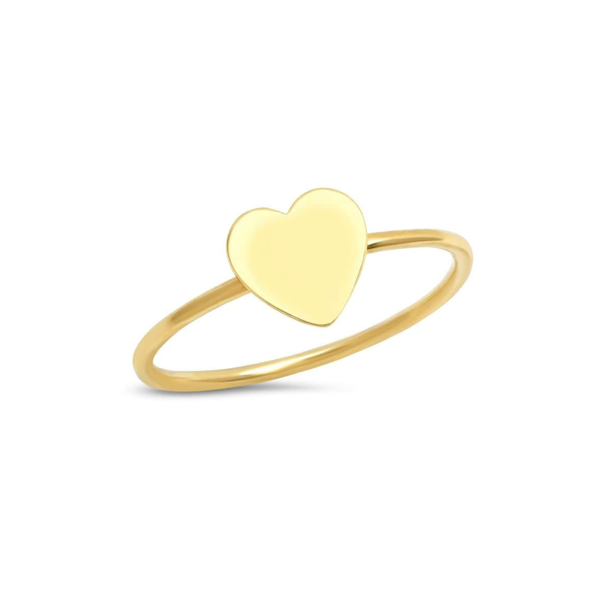 14k flat heart ring Caitlin Nicole Curated Los Angeles